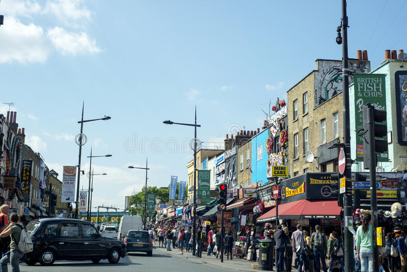 Busy street scenes from camden town royalty free stock image