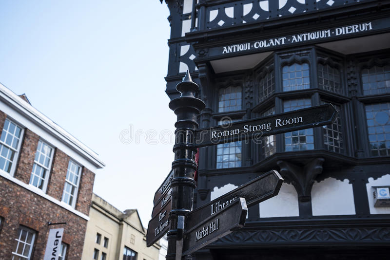 Street Scenes in Chester England stock photos