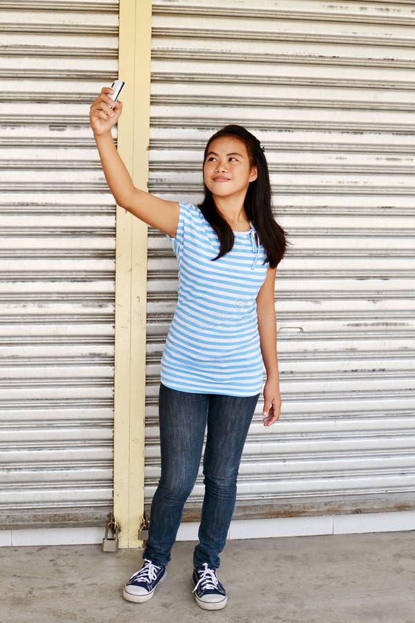 Street Selfie stock image