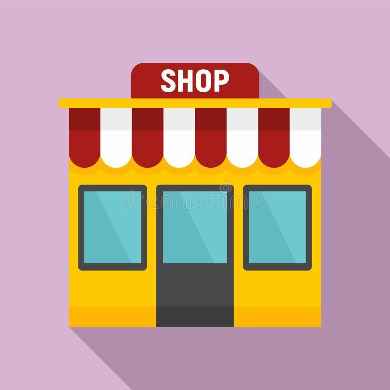 Street shop icon, flat style stock illustration