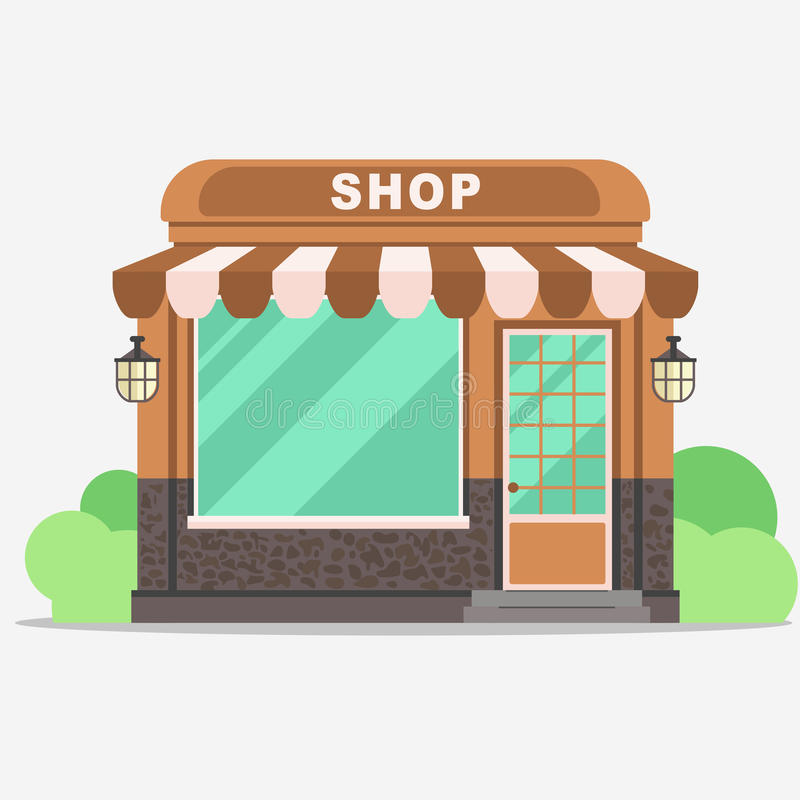 Street shop, small store front royalty free illustration