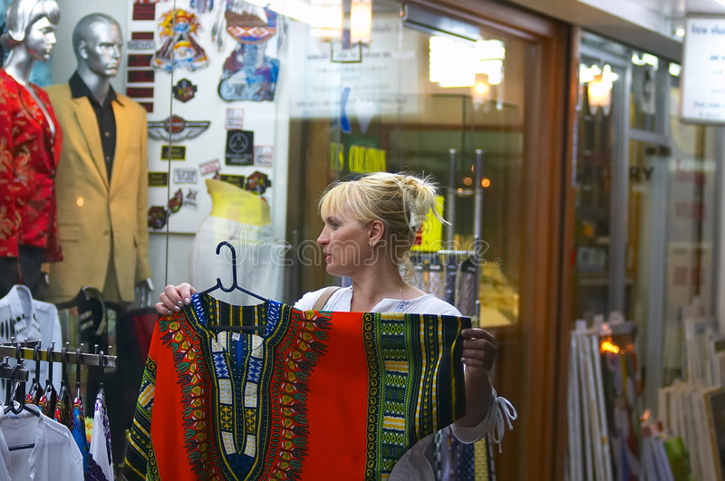 Street shopping royalty free stock photography