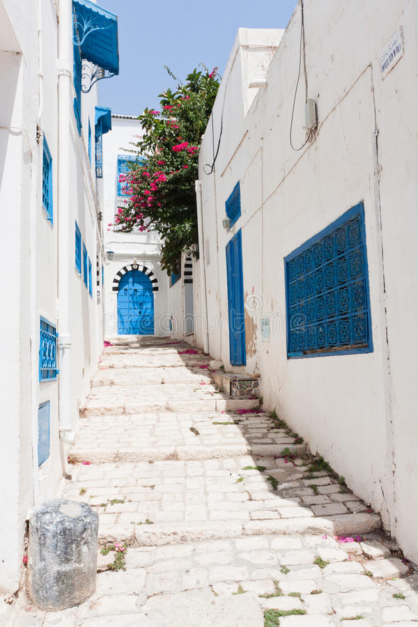 Download Street In Sidi Bou Said Stock Images - Image: 23882784
