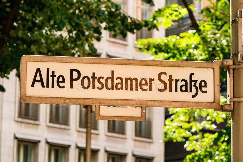 Street sign in Berlin Mitte area. royalty free stock photography