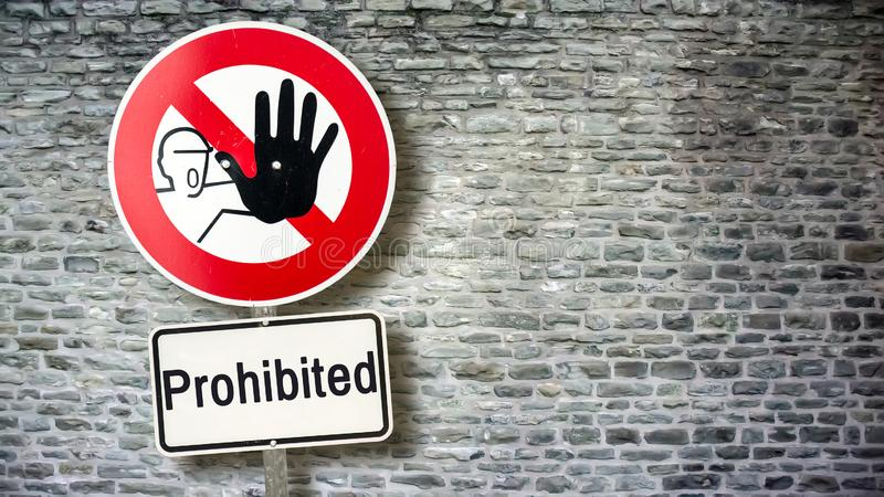 Street Sign to Allowed versus Prohibited. Street Sign the Direction Way to Allowed versus Prohibited royalty free stock images
