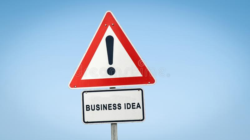Street Sign to Business Idea. Street Sign the Direction Way to Business Idea stock photography