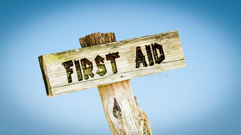 Street Sign First Aid royalty free illustration