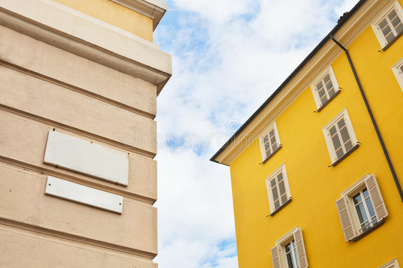 Download Street Sign On House Wall In Parma Stock Photo - Image: 28204984