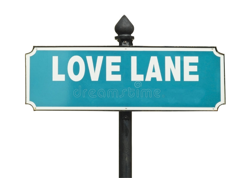 Street sign, Love Lane stock photography