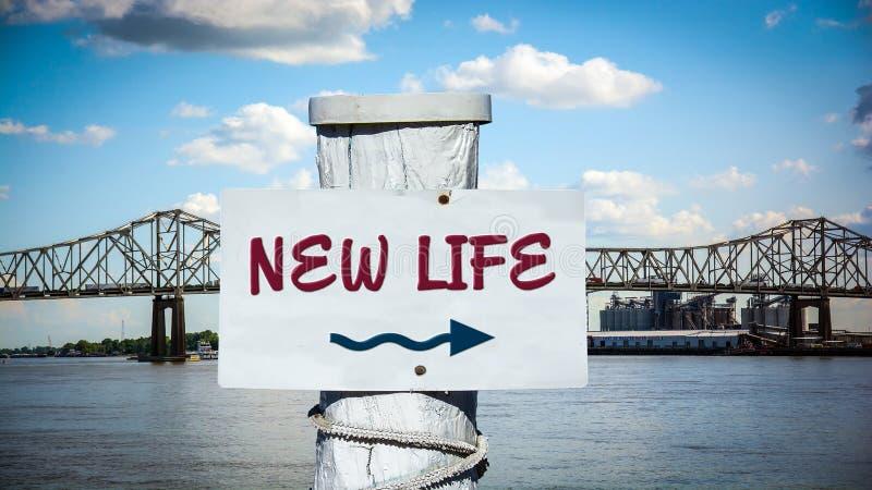 Street Sign NEW LIFE vector illustration