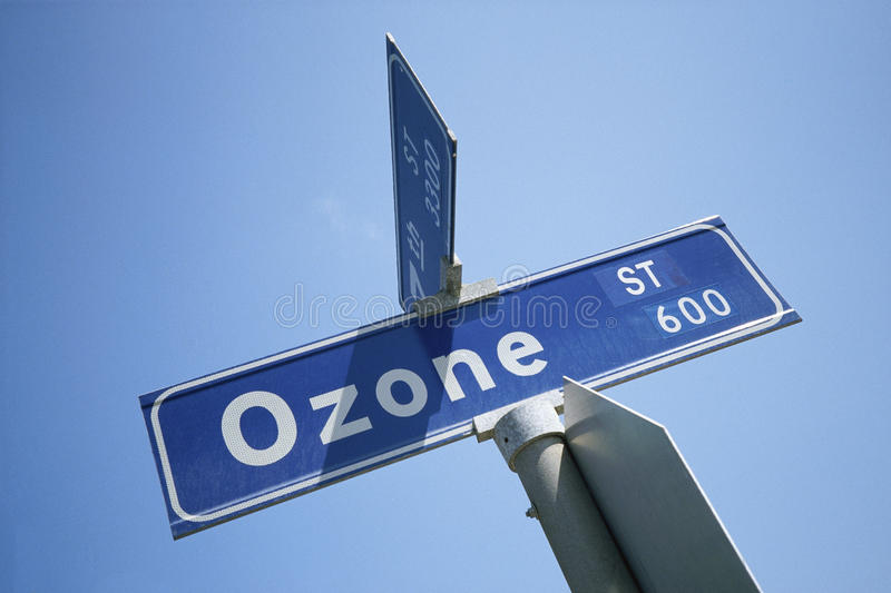 Street Sign - Ozone Street. Street sign Ozone, Los Angeles California royalty free stock images