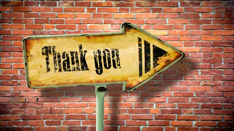 Street Sign Thank You royalty free illustration