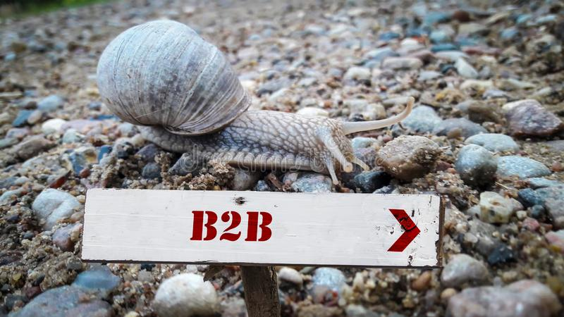 Street Sign to B2B. Street Sign the Direction Way to B2B stock photography