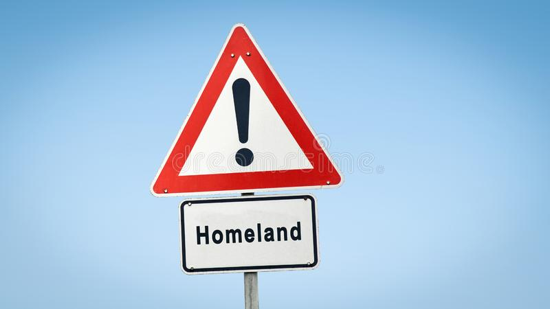 Street Sign to Homeland. Country stock image