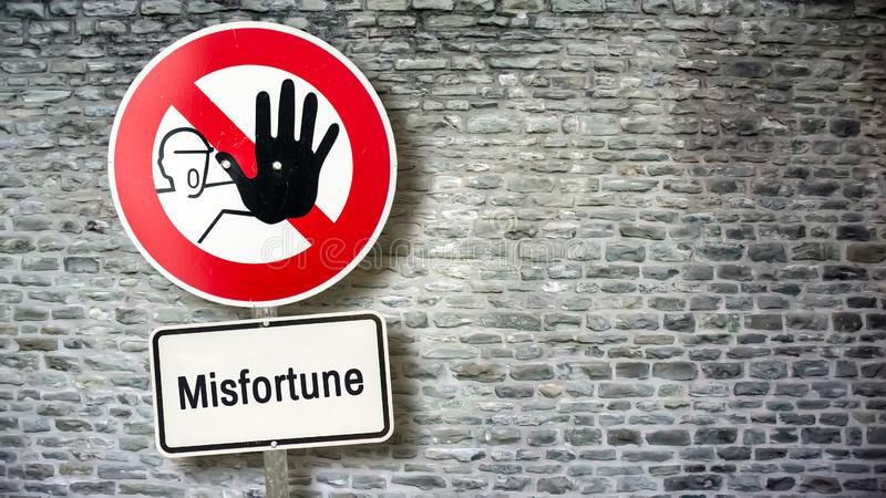 Street Sign Luck versus Misfortune royalty free illustration