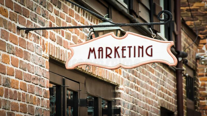 Street Sign to Marketing. Street Sign the Direction Way to Marketing royalty free stock images