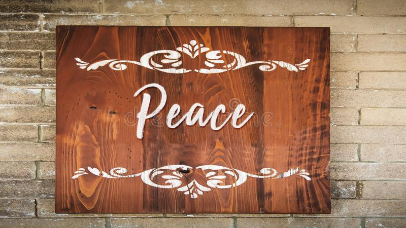 Street Sign to Peace. Street Sign the Direction Way to Peace stock images