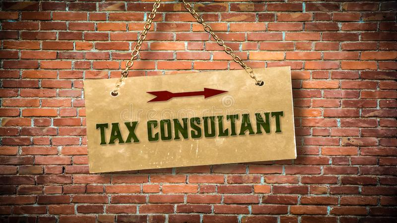 Street Sign to TAX CONSULTANT. Street Sign the Direction Way to TAX CONSULTANT stock images
