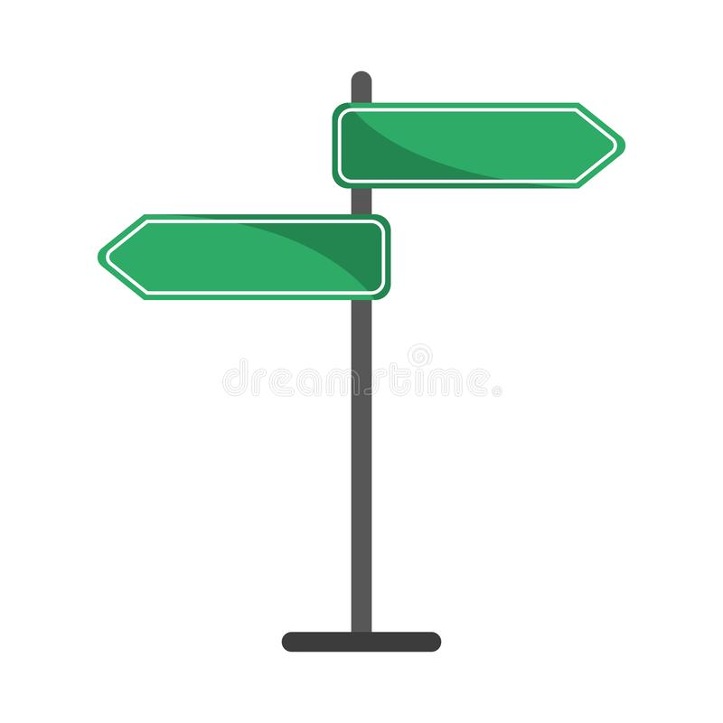Street signpost symbol. Isolated vector illustration graphic design stock illustration