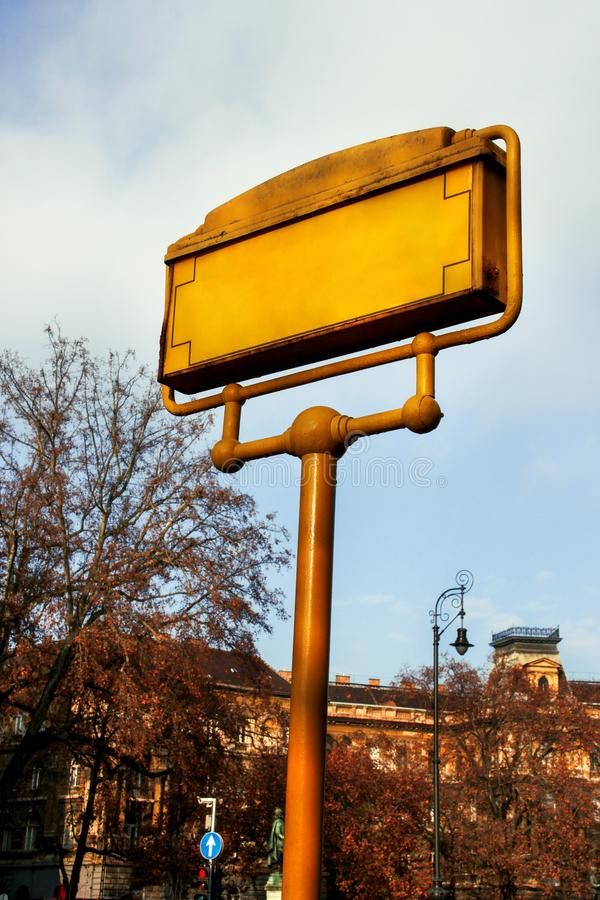 Street signs in Budapest. Hungary royalty free stock photography
