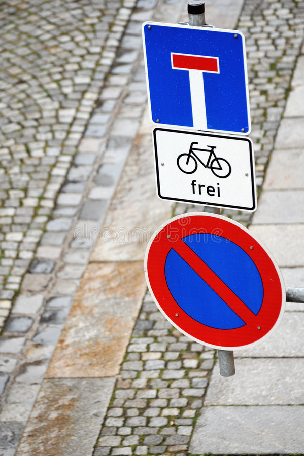 Street signs in Germany