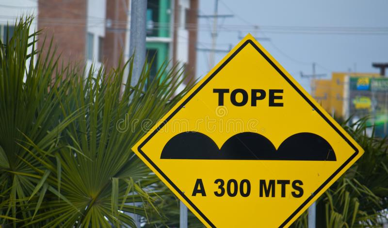 Street Signs in Mexico. Quintana Roo royalty free stock photography