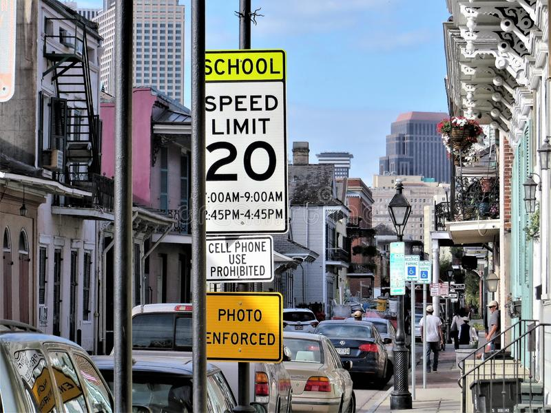 Street signs, New Orleans royalty free stock photo