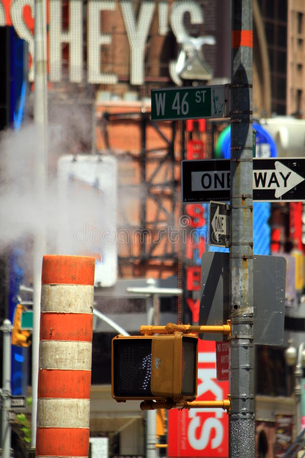 Street signs in New York City royalty free stock image
