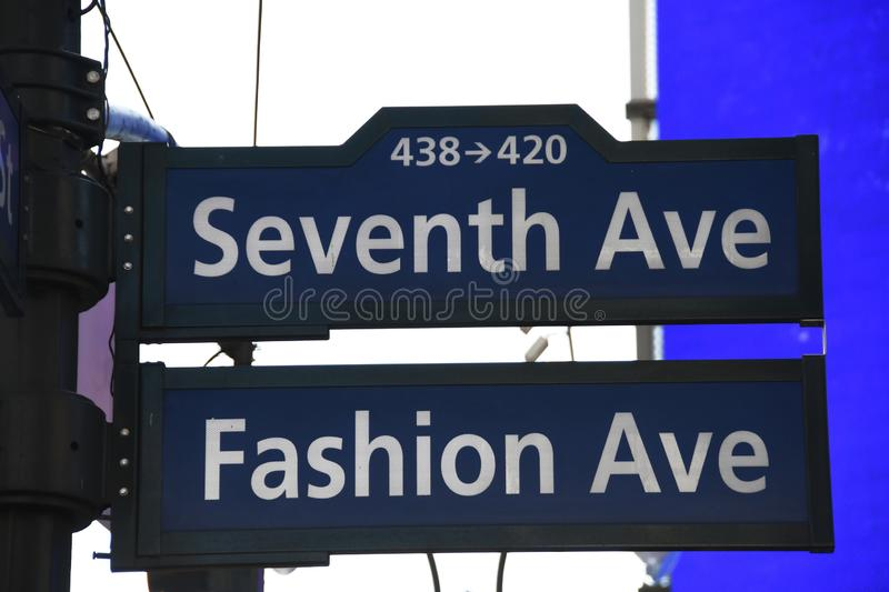 Street Signs in New York City. Street signs located in New York City showing the street numbers and names of streets royalty free stock photography