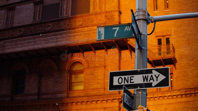 Street signs in New York City royalty free stock photography