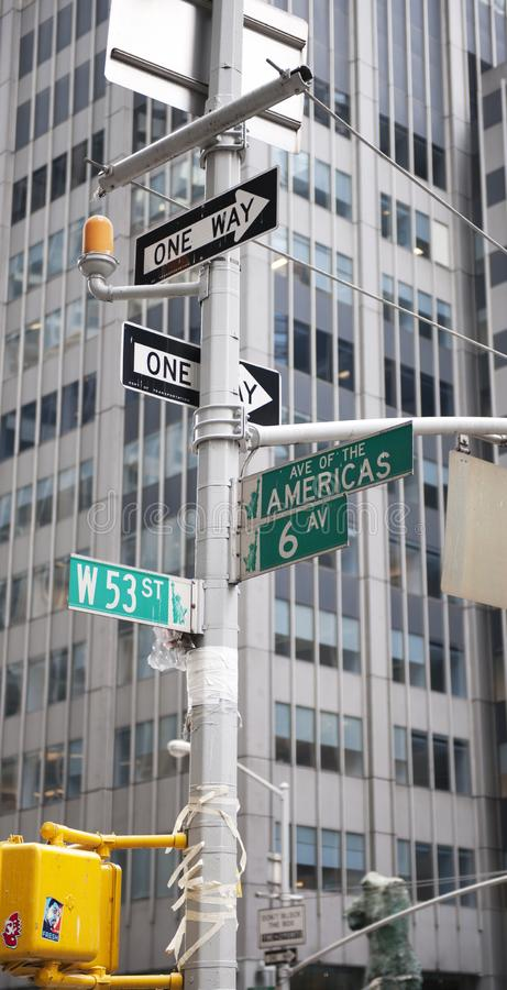 Street signs in New York City, New York, USA. Street signs in New York City, New York stock photo