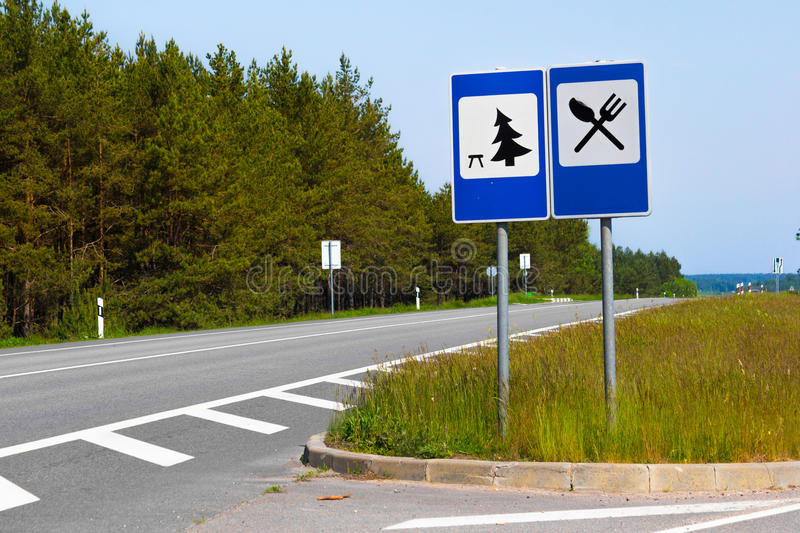 The Street Signs. Of relaxation place ahead stock photography