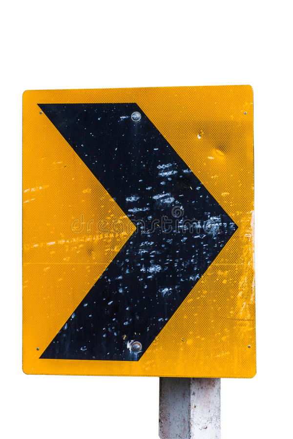 Street signs. Street warning signs, turn right stock photos