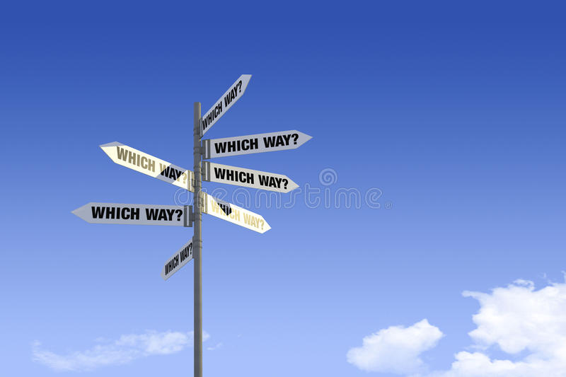 Download Street Signs _Which Way stock photo. Image of options - 20849482