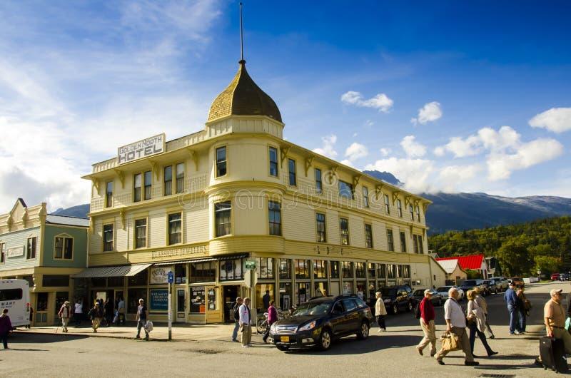 Street of Skagway Alaska royalty free stock photography