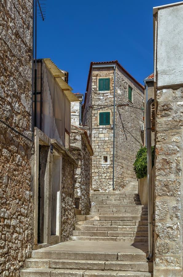 Street in Sibenik, Croatia royalty free stock photo