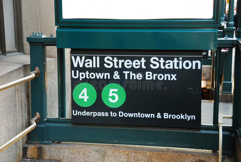Street-Station, New York City stockfotografie