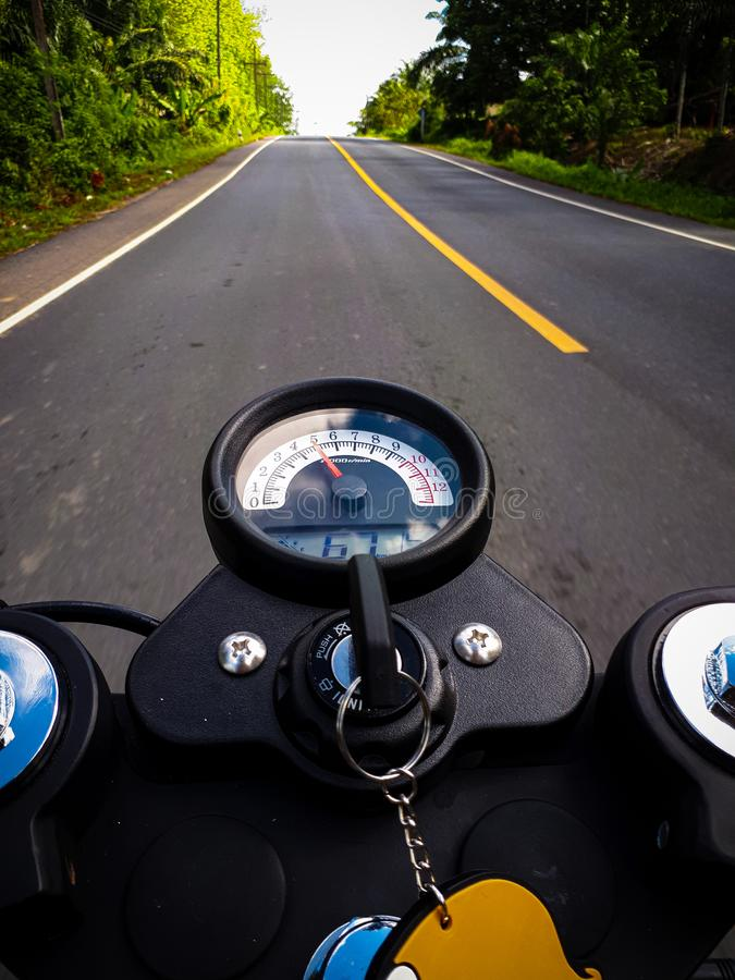 On street. Travel. caferacer, , , , , motocycle, drive royalty free stock photography