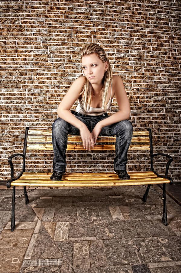 Free Street Style On A Bench Stock Image - 17191601