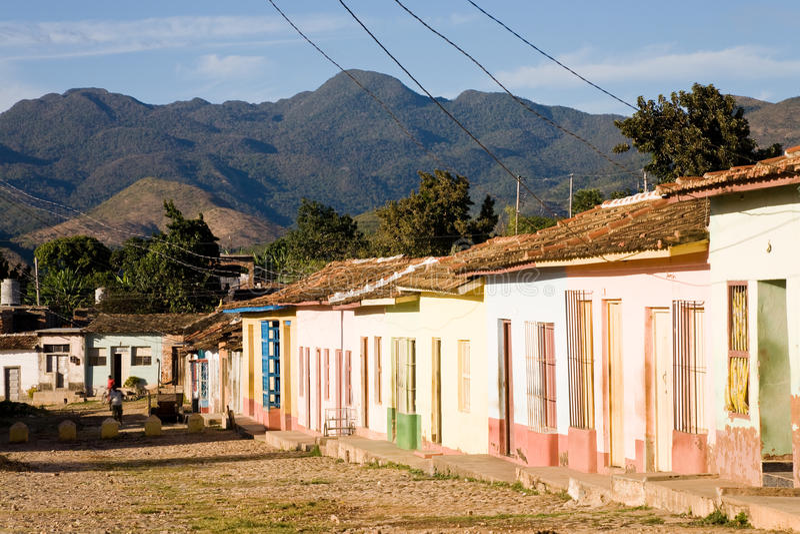 Houses, Trinidad, Cuba royalty free stock photos