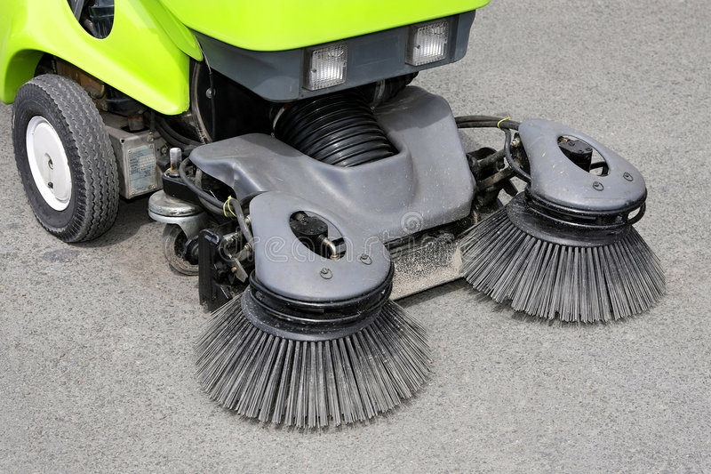 Download Street sweeper stock image. Image of communal, city, vehicle - 6721353