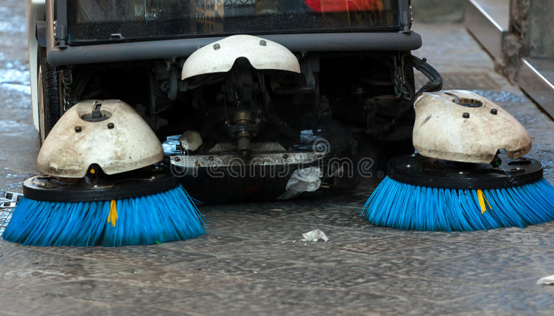 Street sweeper. Front view. royalty free stock images