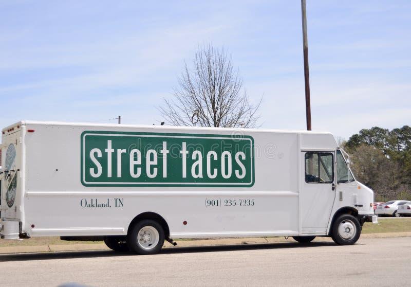 Street Tacos Food Truck, Oakland, TN stock image