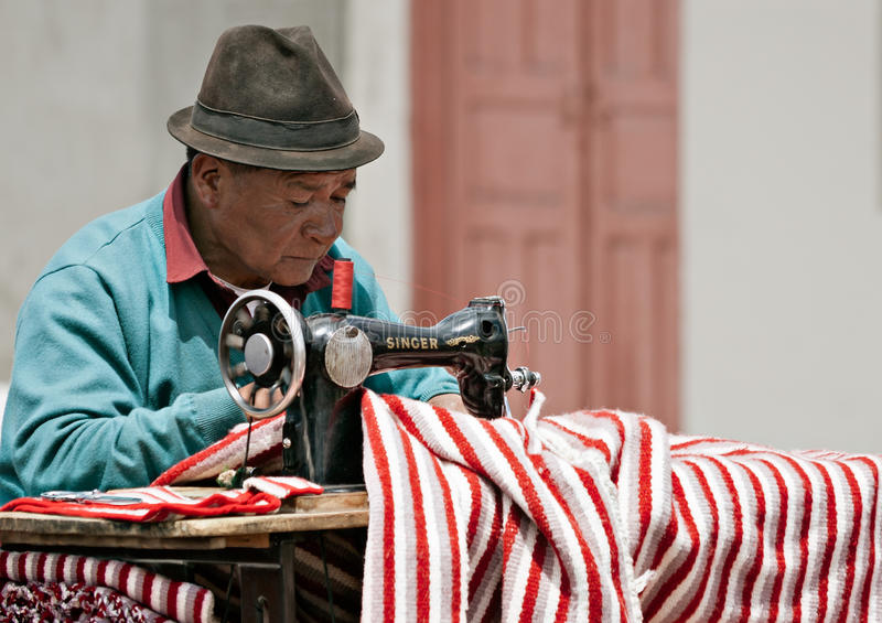 Street tailor stock photography