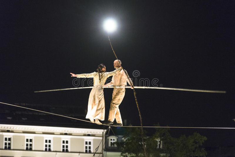 Street Theater Underclouds Company royalty free stock photos