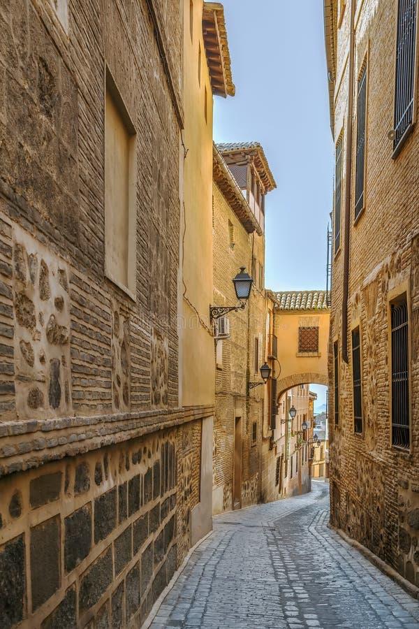 Street in Toledo, Spain. Street in Toledo historical center, Spain stock photo