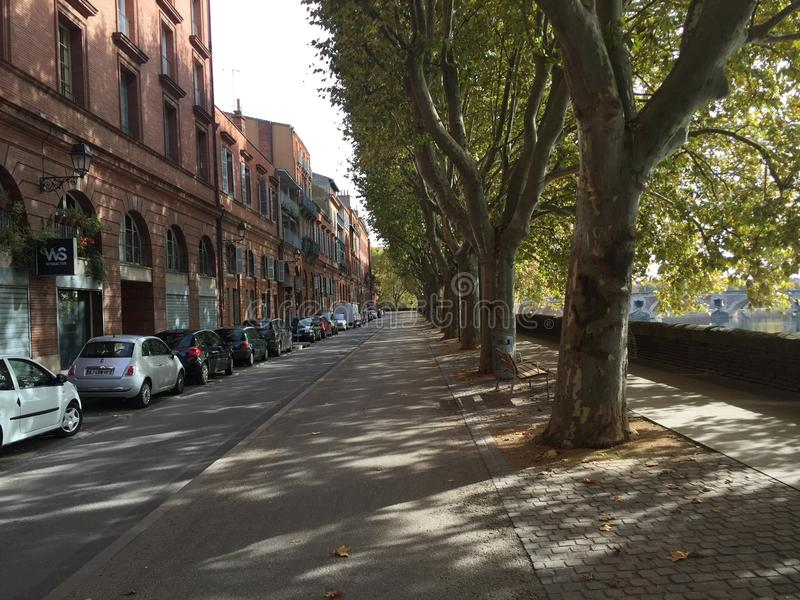 Street in toulouse france stock photography
