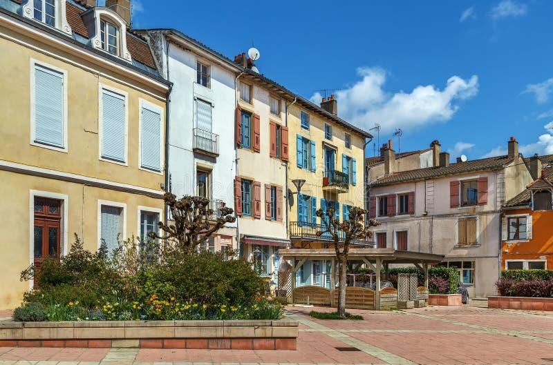 Street in Tournus, Frankrijk stock foto