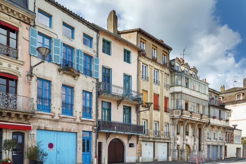 Street in Tournus, Frankrijk royalty-vrije stock afbeeldingen