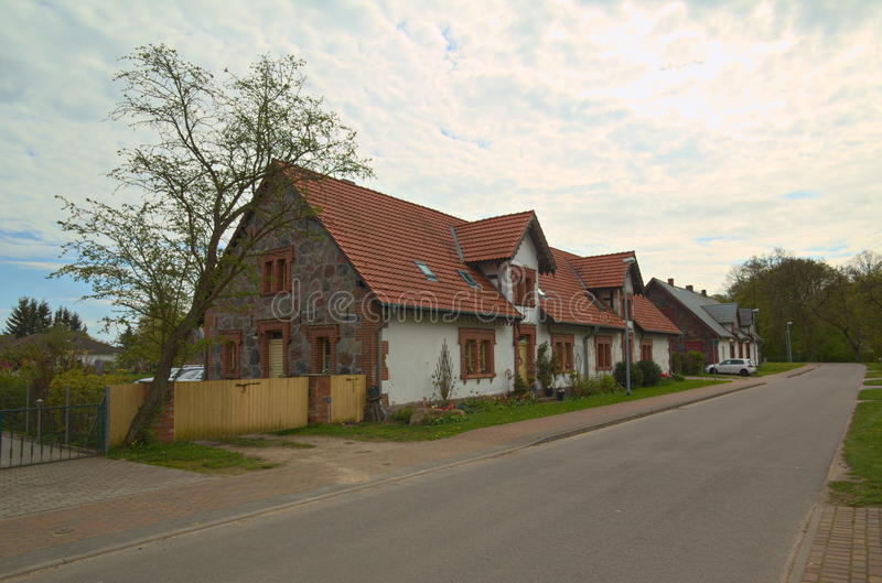 Download Street In The Town Of Behrenhoff, With Houses Listed As Monument Stock Image - Image of behrenhoff, germany: 93332917